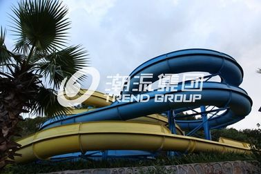 Adult Giant Spiral Fiberglass Water Slide For Outdoor Amusement Park